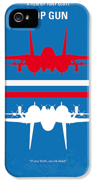 Hollywood iPhone 5 Case - No128 My Top Gun Minimal Movie Poster by Chungkong Art