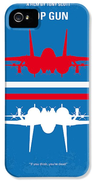 No128 My Top Gun Minimal Movie Poster IPhone 5 Case by Chungkong Art