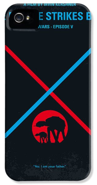 Knight iPhone 5 Case - No155 My Star Wars Episode V The Empire Strikes Back Minimal Movie Poster by Chungkong Art