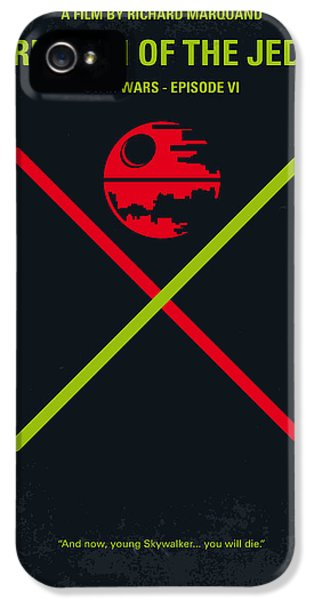 Knight iPhone 5 Case - No156 My Star Wars Episode Vi Return Of The Jedi Minimal Movie Poster by Chungkong Art