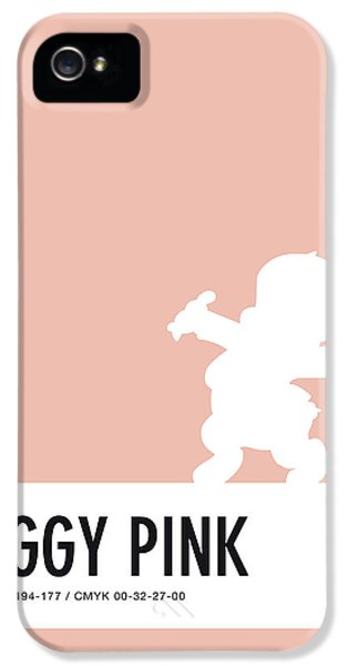 Pig iPhone 5 Case - No17 My Minimal Color Code Poster Porky Pig by Chungkong Art
