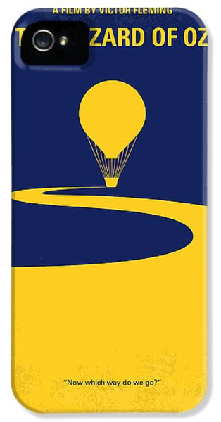 Wizard iPhone 5 Case - No177 My Wizard Of Oz Minimal Movie Poster by Chungkong Art