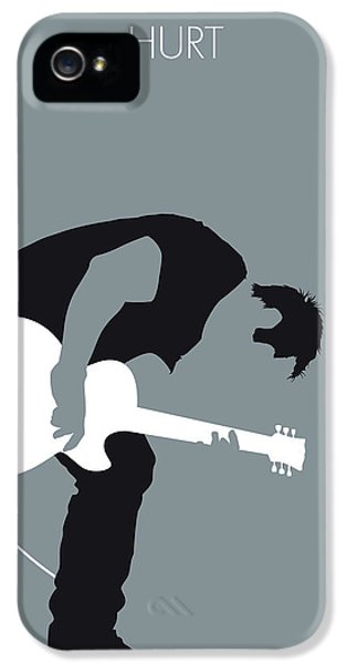 Johnny Cash iPhone 5 Case - No197 My Nine Inch Nails Minimal Music Poster by Chungkong Art