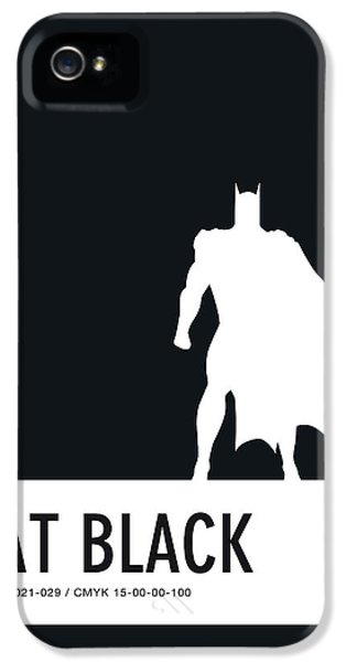 Spider iPhone 5 Case - No20 My Minimal Color Code Poster Batman by Chungkong Art