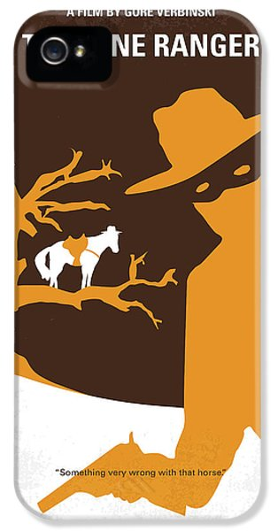 No202 My The Lone Ranger Minimal Movie Poster IPhone 5 Case by Chungkong Art