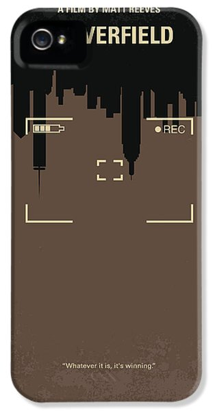 No203 My Cloverfield Minimal Movie Poster IPhone 5 Case by Chungkong Art