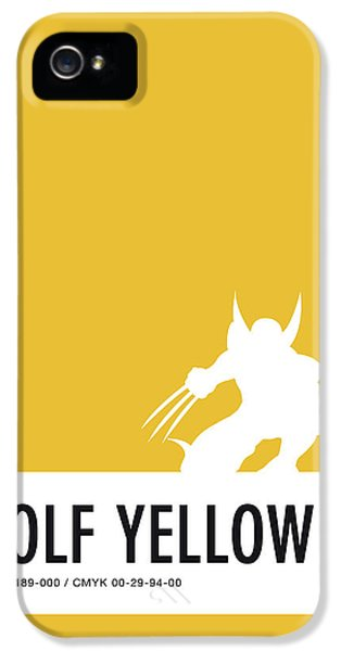 Spider iPhone 5 Case - No21 My Minimal Color Code Poster Wolverine by Chungkong Art