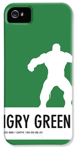 Spider iPhone 5 Case - No22 My Minimal Color Code Poster Hulk by Chungkong Art