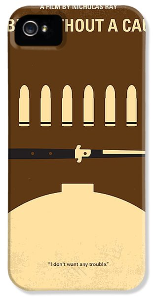 No318 My Rebel Without A Cause Minimal Movie Poster IPhone 5 Case