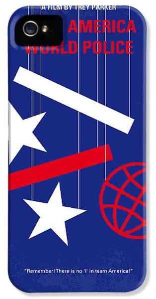 No475 My Team America Minimal Movie Poster IPhone 5 Case by Chungkong Art