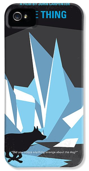 No466 My The Thing Minimal Movie Poster IPhone 5 Case