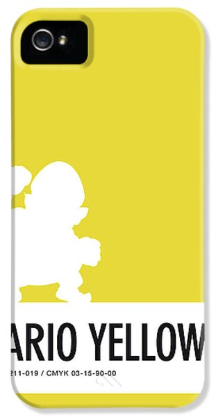Daisy iPhone 5 Case - No43 My Minimal Color Code Poster Wario by Chungkong Art