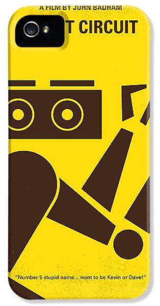 No470 My Short Circuit Minimal Movie Poster IPhone 5 Case by Chungkong Art