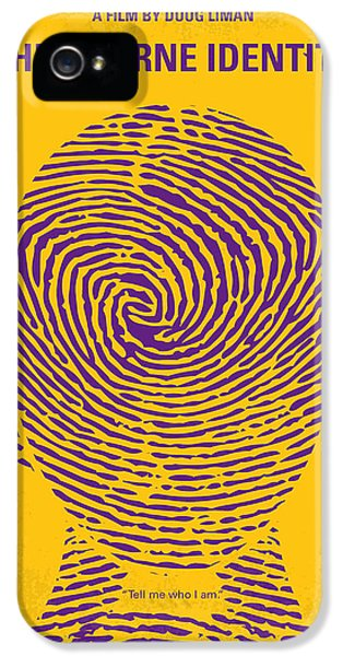 No439 My The Bourne Identity Minimal Movie Poster IPhone 5 Case