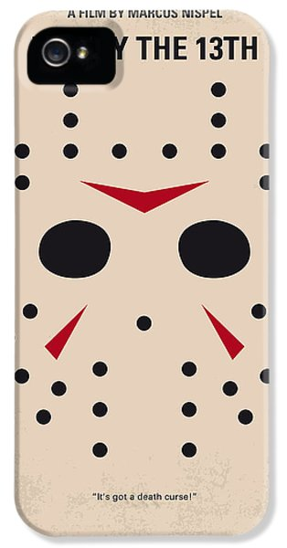 No449 My Friday The 13th Minimal Movie Poster IPhone 5 Case by Chungkong Art