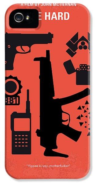 No453 My Die Hard Minimal Movie Poster IPhone 5 Case