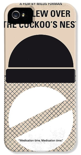 No454 My One Flew Over The Cuckoos Nest Minimal Movie Poster IPhone 5 Case by Chungkong Art