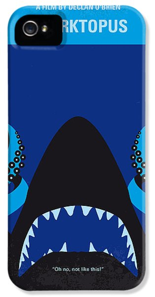 No485 My Sharktopus Minimal Movie Poster IPhone 5 Case by Chungkong Art