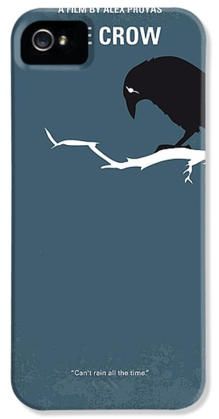 Crow iPhone 5 Case - No488 My The Crow Minimal Movie Poster by Chungkong Art