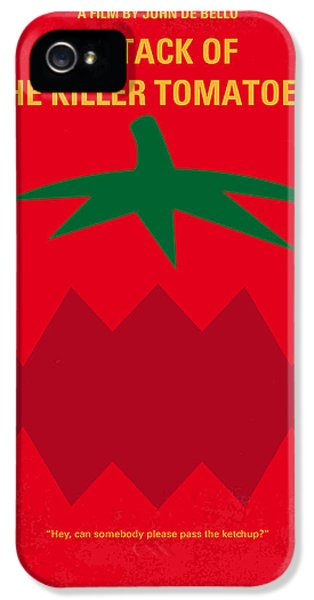 Tomato iPhone 5 Case - No499 My Attack Of The Killer Tomatoes Minimal Movie Poster by Chungkong Art