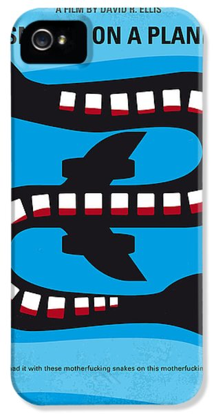 Garden Snake iPhone 5 Case - No501 My Snakes On A Plane Minimal Movie Poster by Chungkong Art