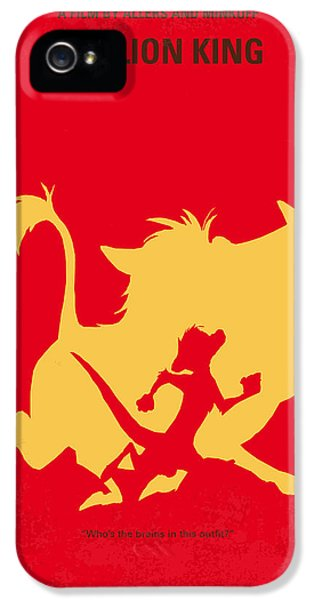 No512 My The Lion King Minimal Movie Poster IPhone 5 Case