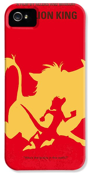 No512 My The Lion King Minimal Movie Poster IPhone 5 Case by Chungkong Art