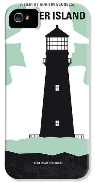 No513 My Shutter Island Minimal Movie Poster IPhone 5 Case by Chungkong Art