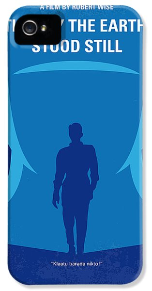 No514 My The Day The Earth Stood Still Minimal Movie Poster IPhone 5 Case by Chungkong Art