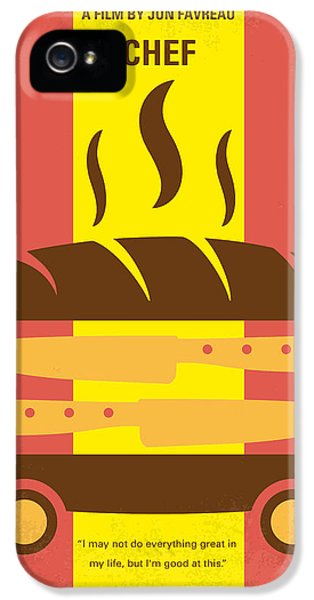 No524 My Chef Minimal Movie Poster IPhone 5 Case by Chungkong Art