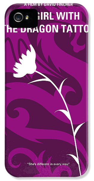 Dragon iPhone 5 Case - No528 My The Girl With The Dragon Tattoo Minimal Movie Poster by Chungkong Art
