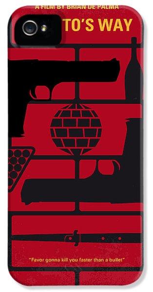 No530 My Carlitos Way Minimal Movie Poster IPhone 5 Case by Chungkong Art
