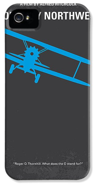 No535 My North By Northwest Minimal Movie Poster IPhone 5 Case