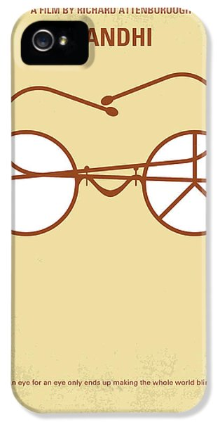 No543 My Gandhi Minimal Movie Poster IPhone 5 Case by Chungkong Art
