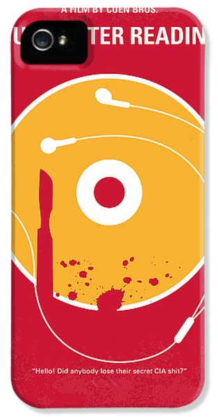 No547 My Burn After Reading Minimal Movie Poster IPhone 5 Case