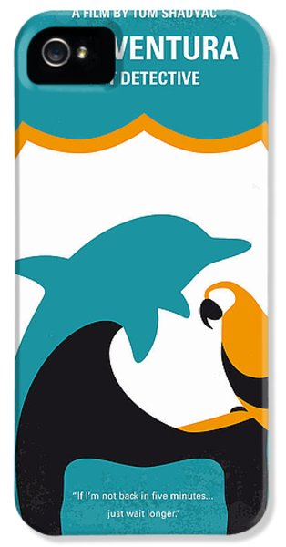 No558 My Ace Ventura Minimal Movie Poster IPhone 5 Case by Chungkong Art