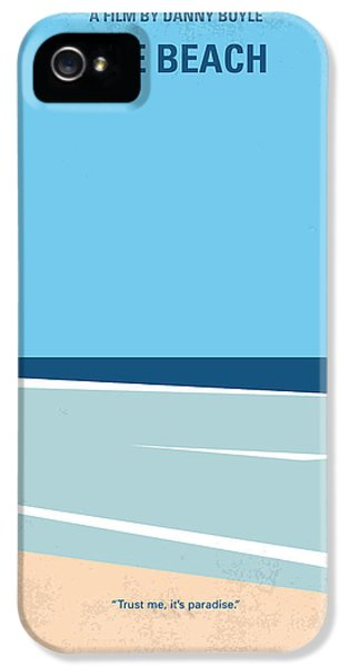 No569 My The Beach Minimal Movie Poster IPhone 5 Case by Chungkong Art