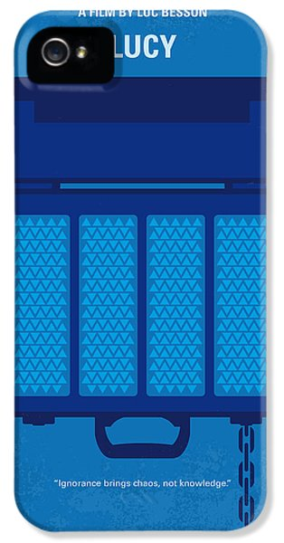 No574 My Lucy Minimal Movie Poster IPhone 5 Case by Chungkong Art