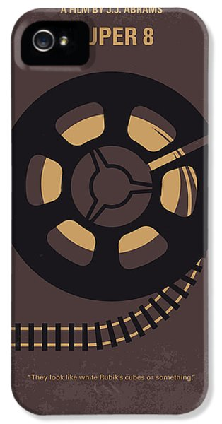 No578 My Super 8 Minimal Movie Poster IPhone 5 Case