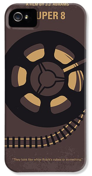Train iPhone 5 Case - No578 My Super 8 Minimal Movie Poster by Chungkong Art