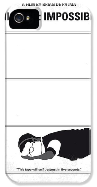 No583 My Mission Impossible Minimal Movie Poster IPhone 5 Case by Chungkong Art