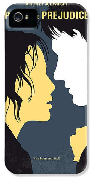 No584 My Pride And Prejudice Minimal Movie Poster IPhone 5 Case by Chungkong Art