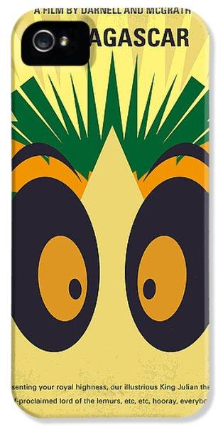 No589 My Madagascar Minimal Movie Poster IPhone 5 Case by Chungkong Art