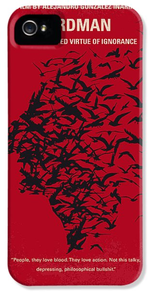 No604 My Birdman Minimal Movie Poster IPhone 5 Case by Chungkong Art