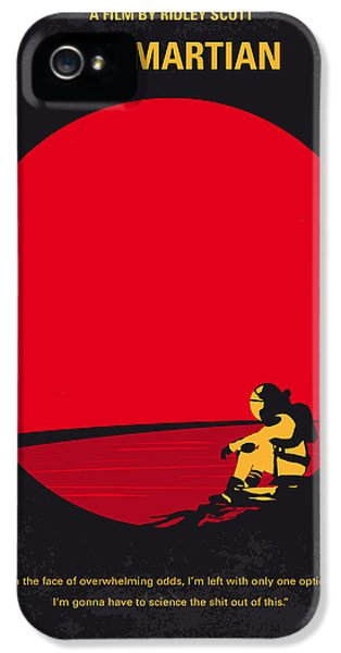 No620 My The Martian Minimal Movie Poster IPhone 5 Case by Chungkong Art