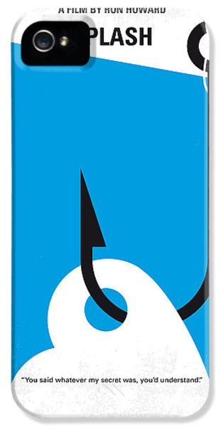 Mermaid iPhone 5 Case - No625 My Splash Minimal Movie Poster by Chungkong Art