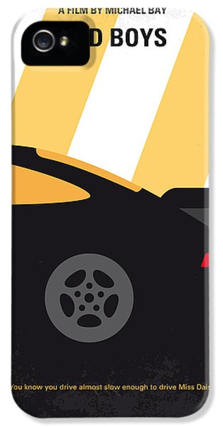 No627 My Bad Boys Minimal Movie Poster IPhone 5 Case by Chungkong Art