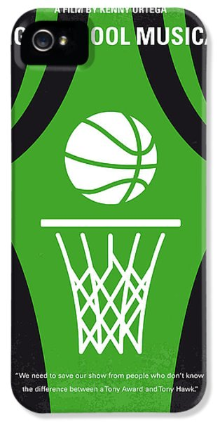 Basketball iPhone 5 Case - No633 My High School Musical Minimal Movie Poster by Chungkong Art