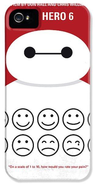 No649 My Big Hero 6 Minimal Movie Poster IPhone 5 Case by Chungkong Art