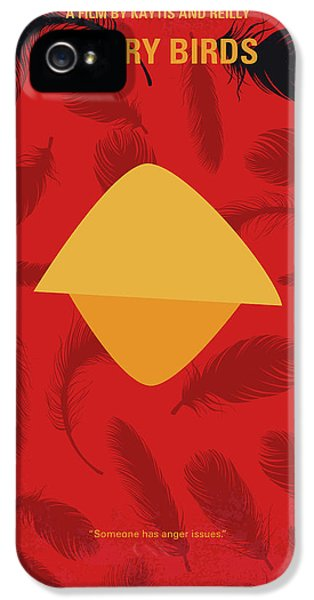 No658 My Angry Birds Movie Minimal Movie Poster IPhone 5 Case by Chungkong Art
